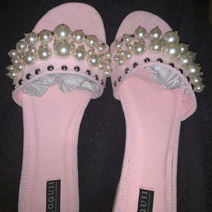 Baby pink slides